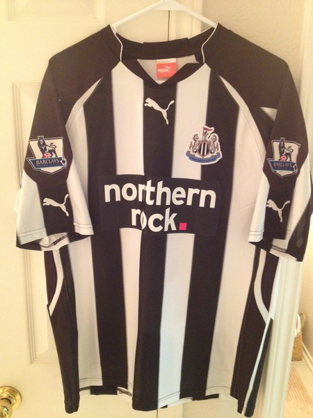 @SwapOfTheTable Puma Newcastle United large with Carroll 9 and EPL patches #swapofthetable