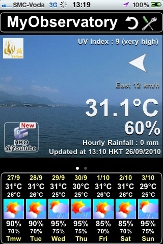 Superb weather conditions in HKG