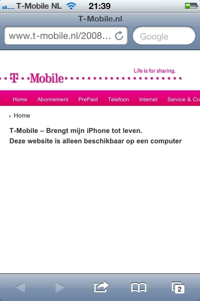 Haha, dit verzin je niet. Foutmelding van laatste #tmobile iPhone campagne.
