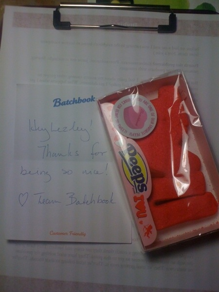 Does your CRM company send you candy when you make stupid mistakes with their software? MINE does. @batchbook