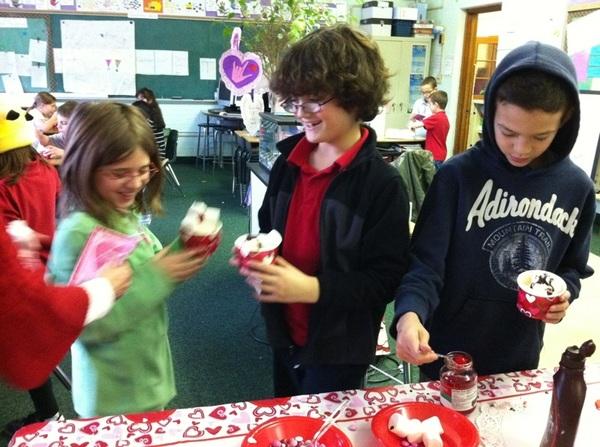 Valentine's sundaes!