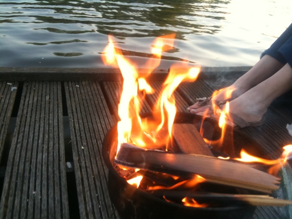 Burning down the boat.