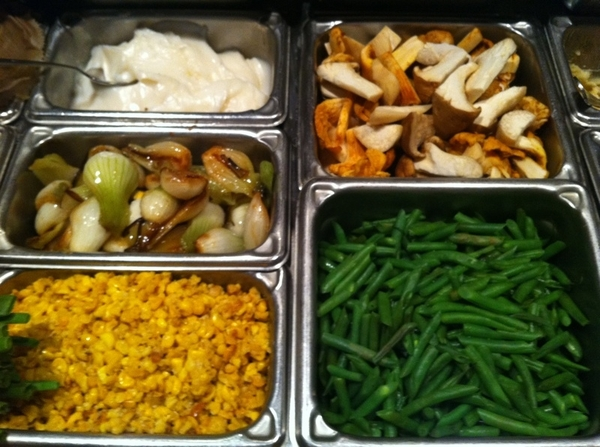 Great looking mise-en-place on the Topolo line at the beginning of service.
