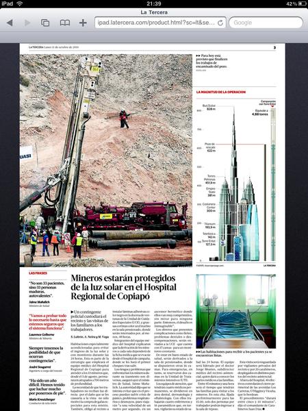El pozo de rescate donde están los mineros de Chile equivale a más de un Empire State y medio de distancia