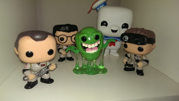 Another empty shelf no longer empty (though missing a couple, waiting for Winston and Ecto 1)