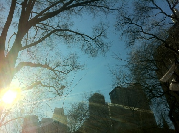 Cloudless skies as I head into the office to pinch hit for my guest host