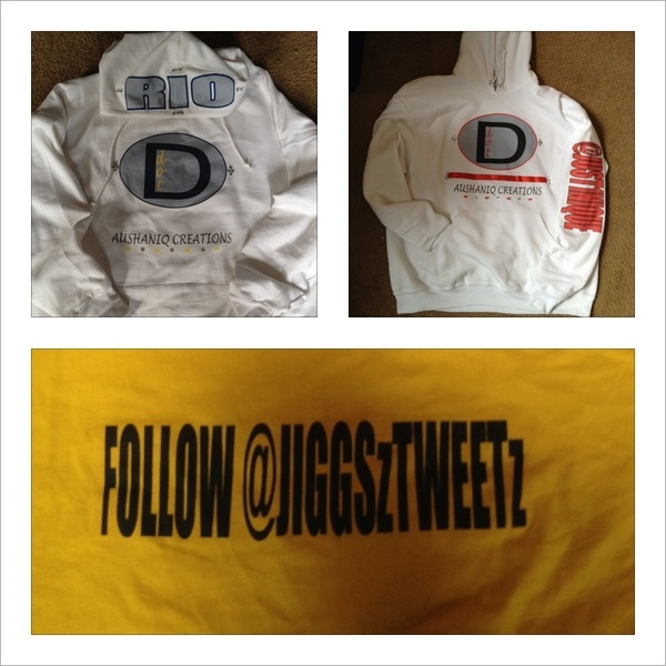"Introducing ""Ddot"" GET YOURS TODAY! customizable hoodies, tees, and polos!! Contact @JUST1NIQUE & @JIGGSzTWEETz"