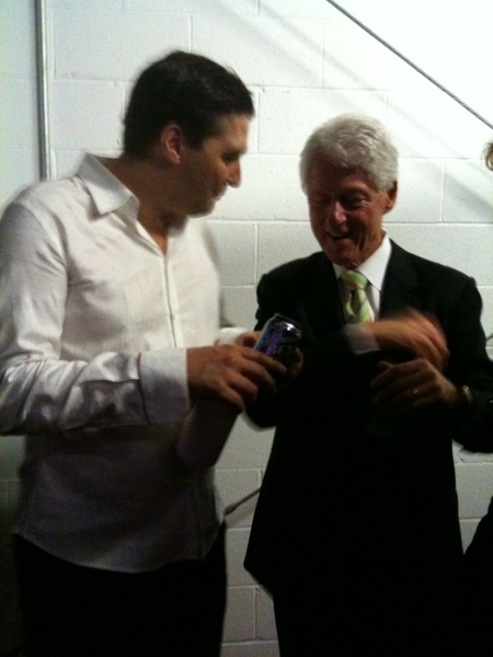 Pic of Bill Clinton and I tonight in Lexington, Amazing speech! Fun Lexington hearing and Speech Gala,