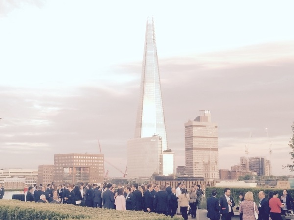 Another beautiful evening for @KWMLaw Real Estate summer tipple up on the roof. #London @Inn_Tweets