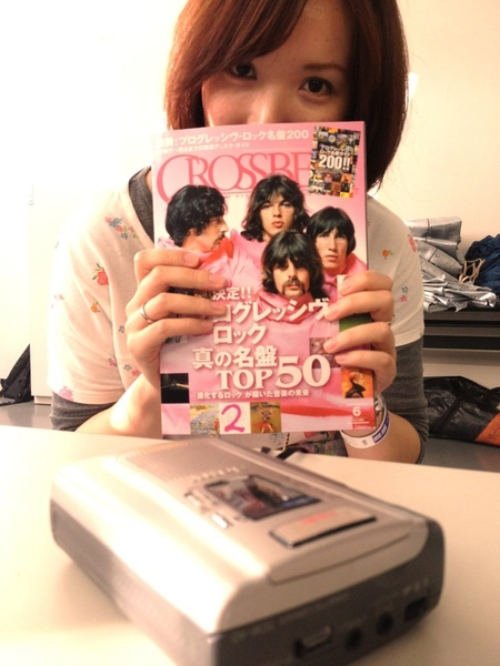 Doing interview with Crossbeat magazine!! I bought my first copy back in 1988!!