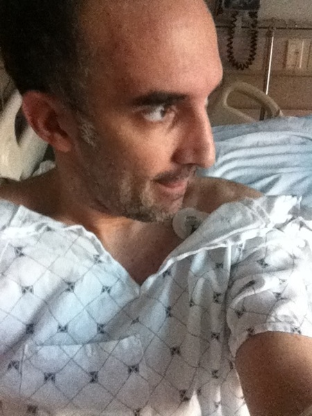 #MAMK_Update I am off to surgery now for my biopsy.  #livestrong