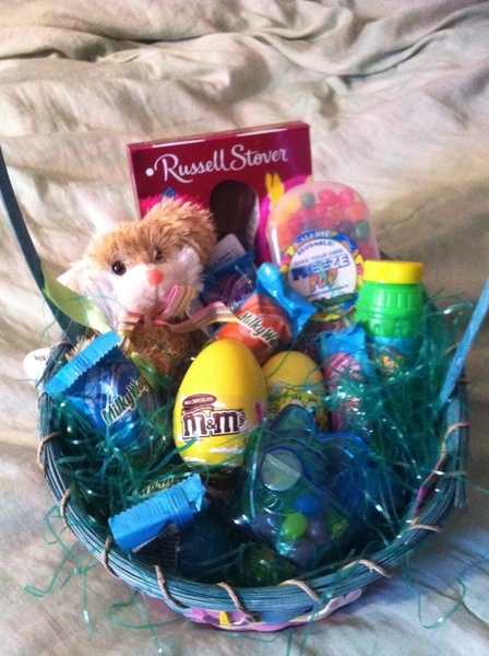 Just finished lil man's Easter basket 