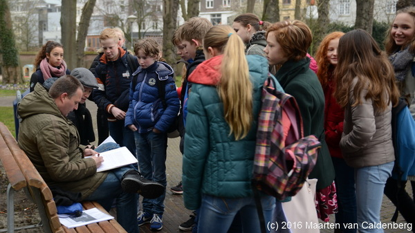 Tijdens de Rodenborchdag van @Rodenborch #rosmalen bezochten klas 1 en 2 @shertogenbosch
