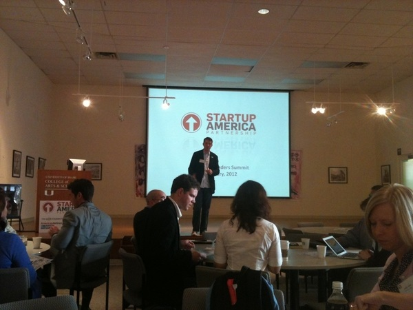 summit kickoff! Yay!!!! Scott getting the crowd going- Can't wait to hear what the other regions are doing! @startupfl