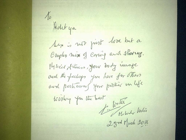 An awesome friend just got me Dr. Mahendra Watsa's autograph!!! Hahahaha