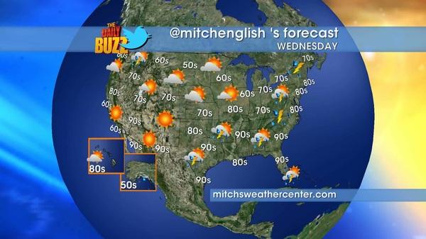 Wake up tomorrow morning w/your hosts @ajacksontv @tvandy @kiamalone & @mitchenglish  Here's tomorrow's forecast #weather