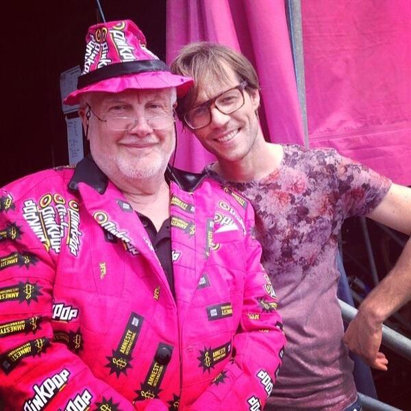 Mooi roze is niet lelijk. Mr Pinkpop!!! #PP14