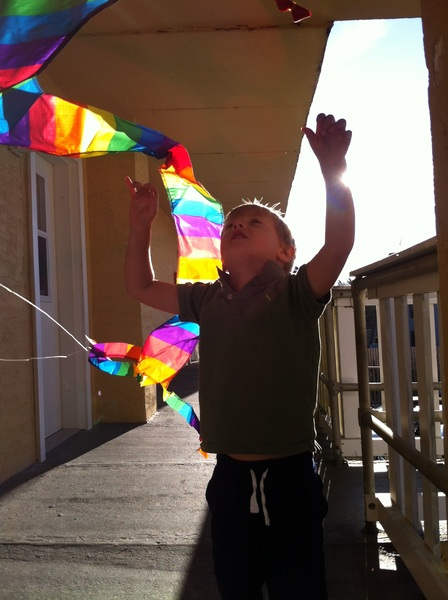 Going to fly a kite