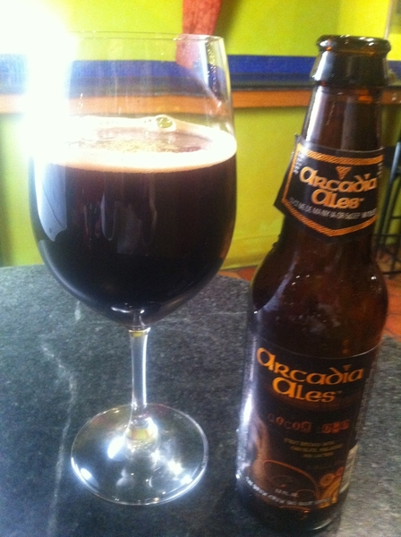 Ok: another new seasonal cocktail: Arcadia Ales Cocoa Loco + Graham's 6-Grape Port! Really delicious. Warm hug.