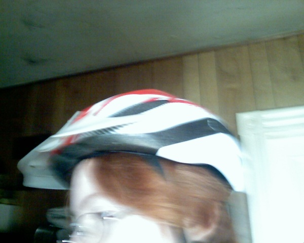 New helmet too