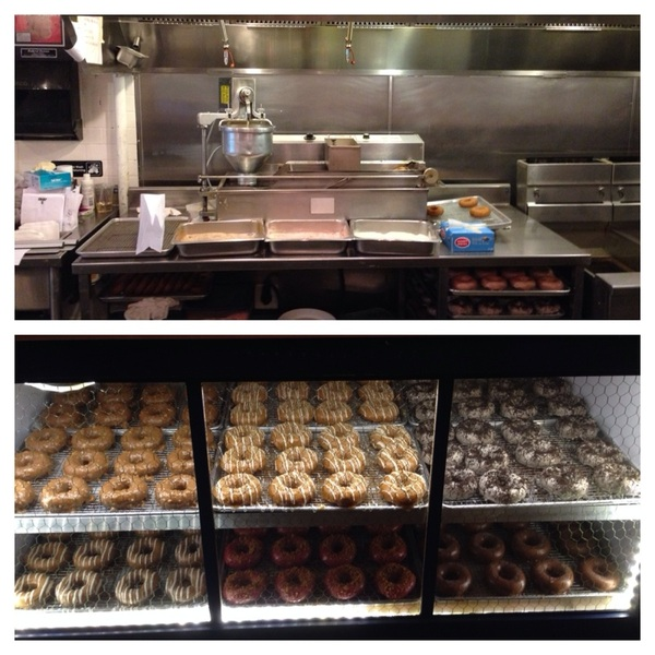 Philly: on way to airport, 1 last stop: Federal Donuts. Pumpkin-spice, sea salt chocolate, fried-to-order cinnamon :)