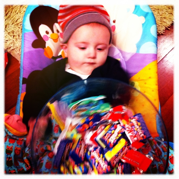 Fletcher is ready to hand out candy