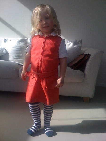 Darling daughter wearing my dress