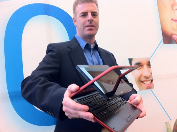 Got to video interview the man who showed the world Dell's future twist screen tablet with Intel Atom inside #IDF10