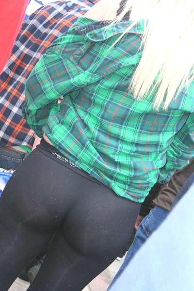 ass of the sweet blonde #candid babe again #creep