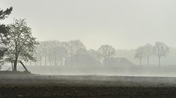 Mist verdwijnt eindelijk (net na 10h) #buienradar
