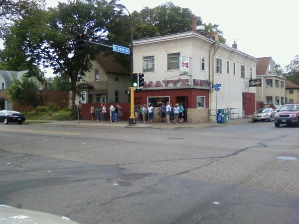 Line outside Matt's Bar. R U kidding me?