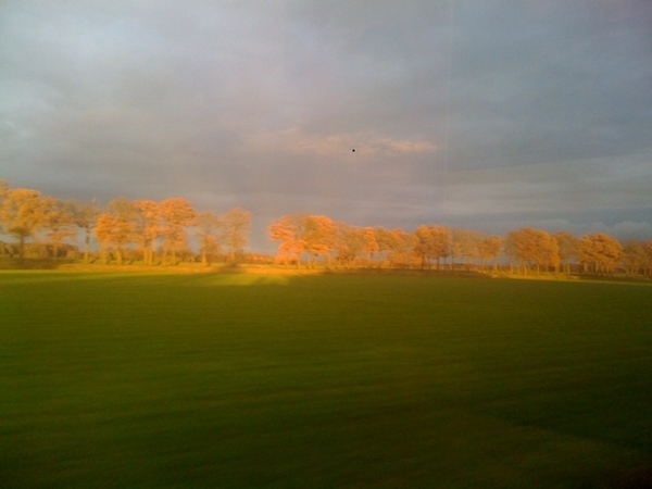 Incredible colours on my way home from Drenthe