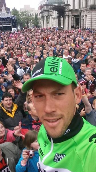 Selfie of the day #giro @Belfast @TeamBelkin