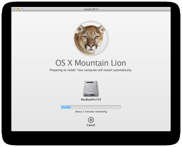 Installing #MountainLion!