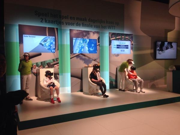 Gaaf! Rodelen met de Oculus Rift bij @abnamrowtt #sportnext