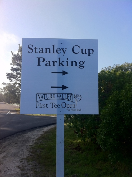 And the Stanley Cup is in Pebble today. #Bruins #Champs