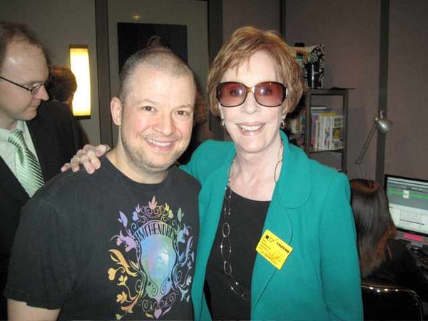 Met Carol Burnett, one of the funniest people ever. I did a Tarzan call when she kicked me in the nuts.