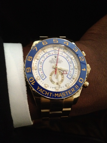 Sitting here chilling with this Rollie on my arm what I paid for it should've came with an alarm #youngjeezy