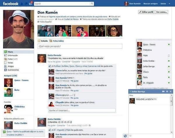 Don Ramón tiene Facebook