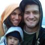 At the beach with the family