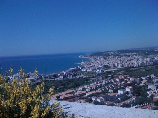 Sitges from the hills