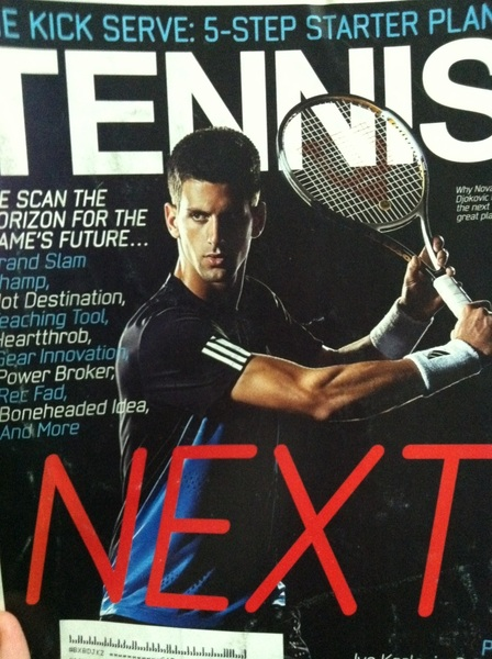 "The cover of  @tennis magazine March '08. ""Why @DjokerNole is the NEXT great player"" #Djokovic #tennis"