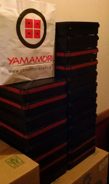 Hope the #24theweb participants are hungry. Thanks @yamamori_sushi for the support.