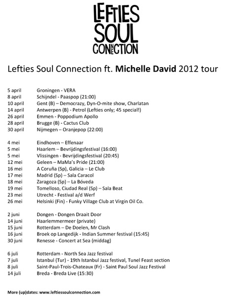 Nieuwe tourdata @theLefties