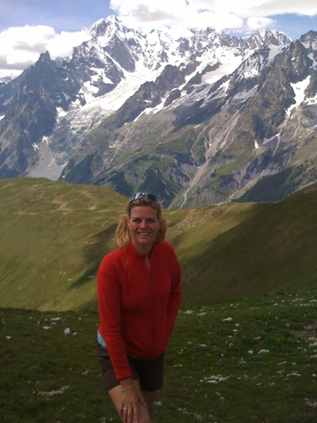 On top; at foot of Mt Blanc with a breathtaking 360 degr view