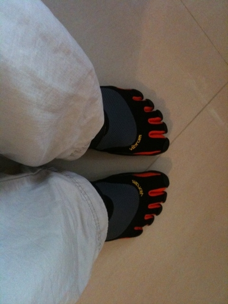 Taking my vibram five fingers for a wall
