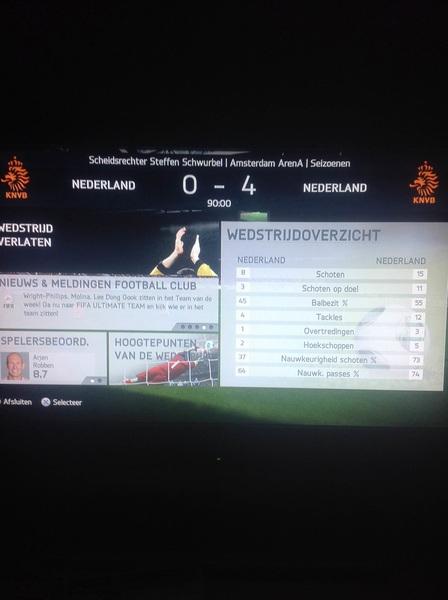 Potje #NED vs #NED, klinkende overwinning #FIFA14