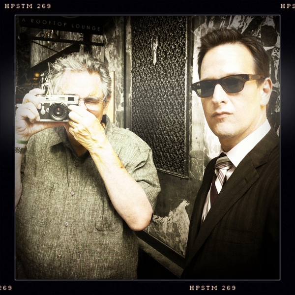 Here's a pic taken on set by @inhale511 of me and our incredibly talented DP Fred Murphy. Nice shot Brockton!