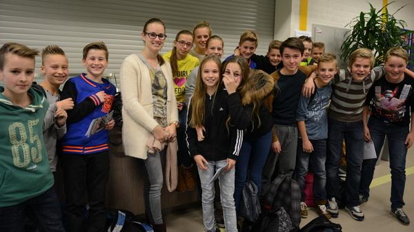 Vandaag zagen de brugklassers hun #groep8 #docent tijdens de #tafeltjesmiddag @rodenborch #rosmalen