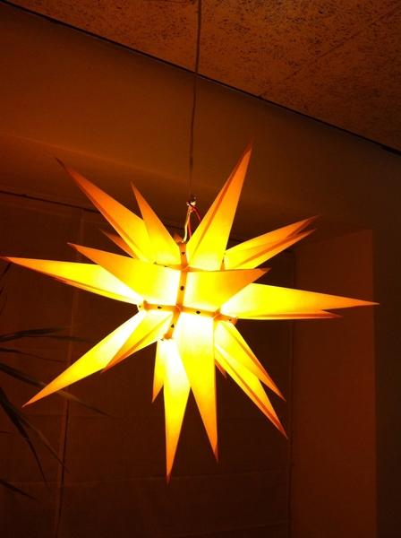 Last night for the advent star.